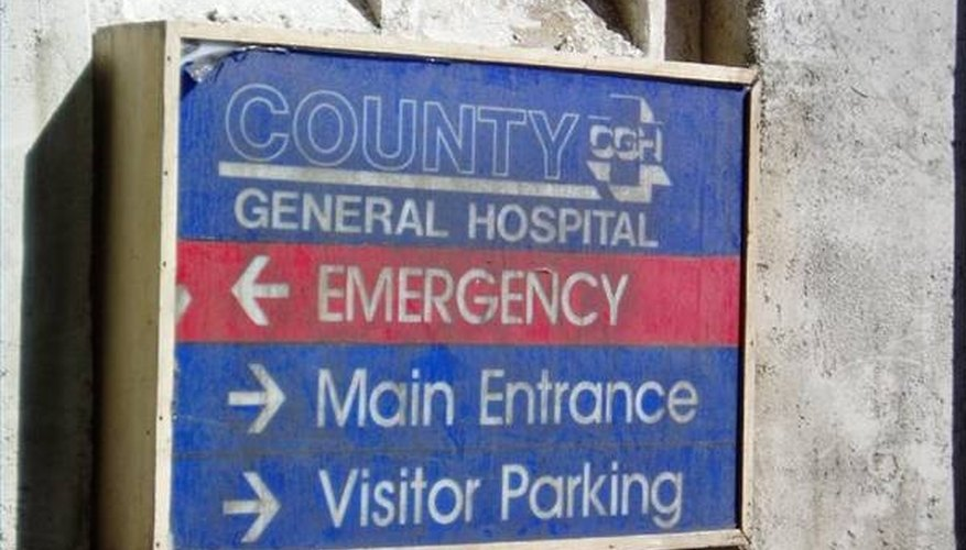 Take personal ID and insurance information with you to the hospital.