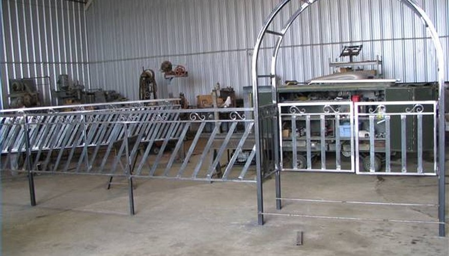 Railing and entry arbor built in the Fabrication Shop