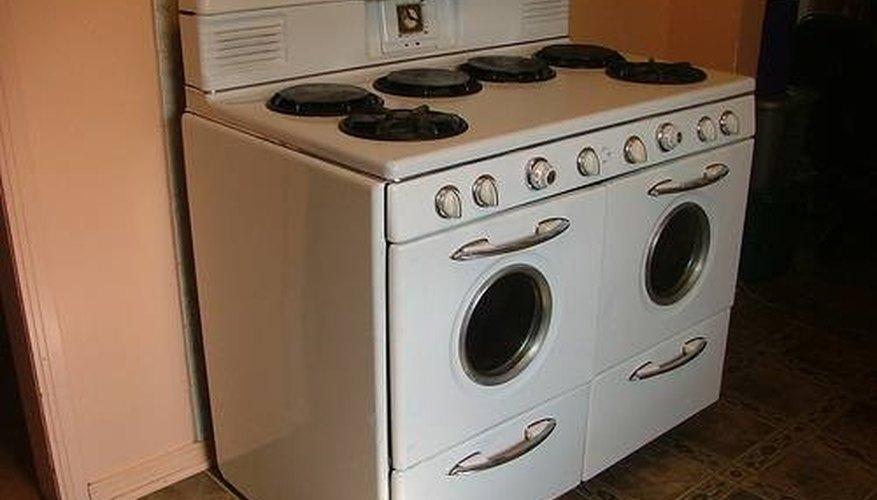 Enameled gas-burning stove