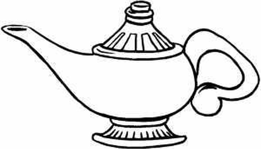 Basic Genie Lamp. How to Make a Large Genie Bottle for a Stage Play   Our Pastimes