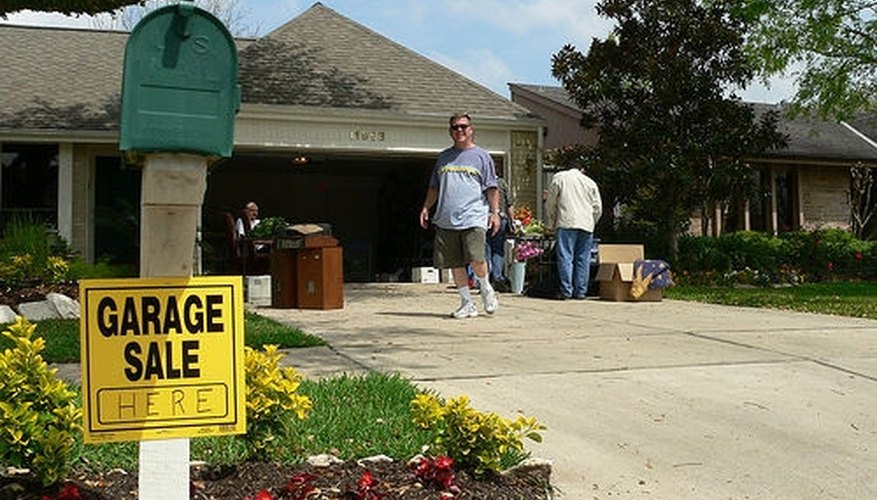 A garage sale is a good way for one person to raise money for charity.