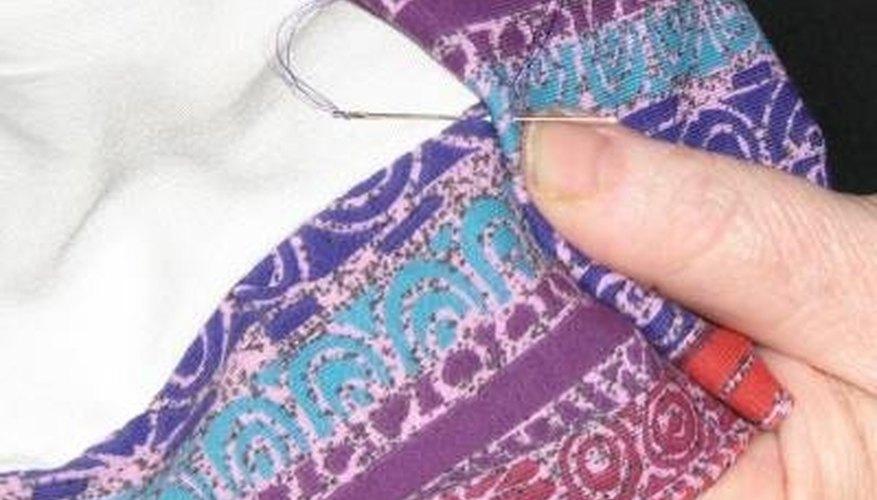 Blind stitch the curtain hem