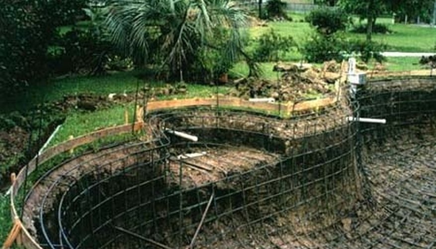 Excavation of the land