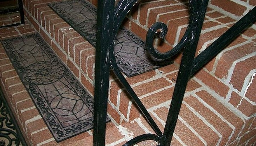 After painting the wrought iron, check for spots you missed!