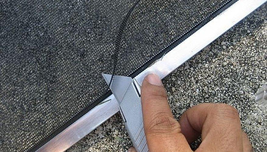Trim edges of screen.