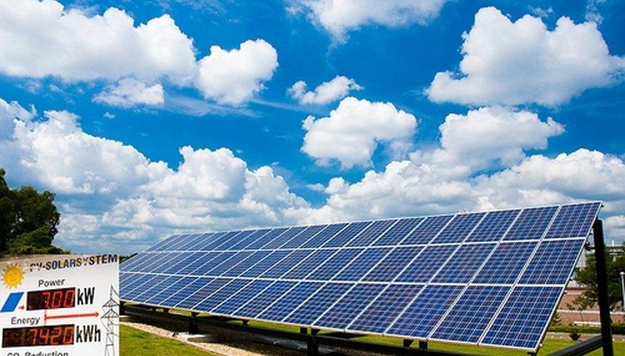 Solar panels convert sunlight to energy.