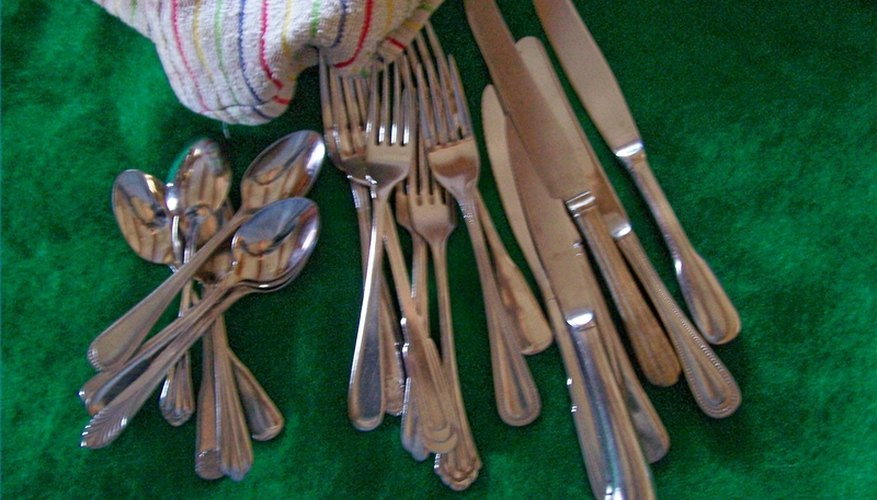Household flatware is often a mixed collection.