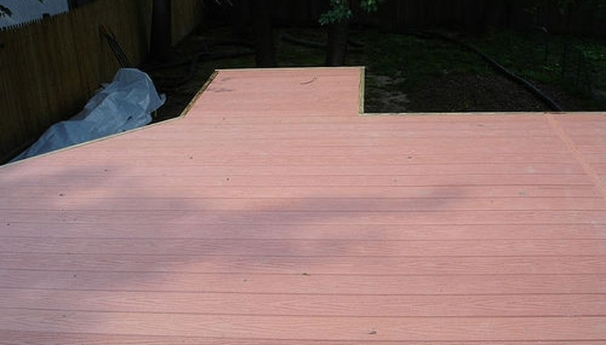 Decking is usually installed parallel to the house.