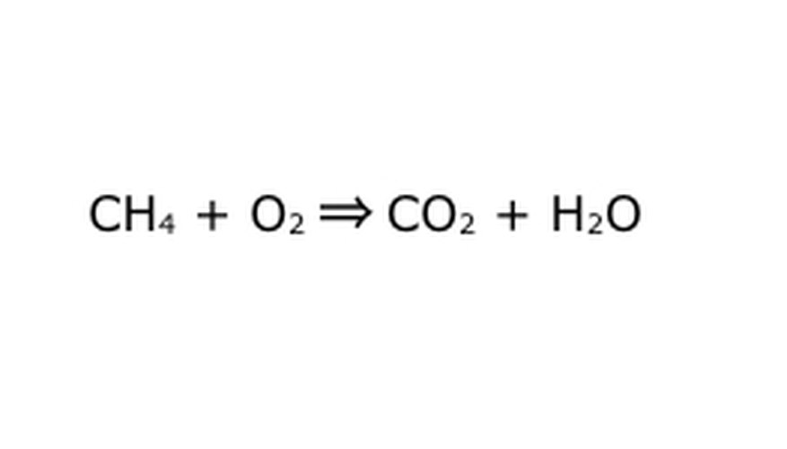 A chemical equation looks like this, but this is still incomplete.