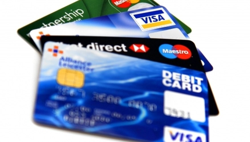 items you will need credit cards