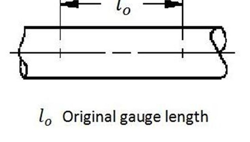 Original gauge length.