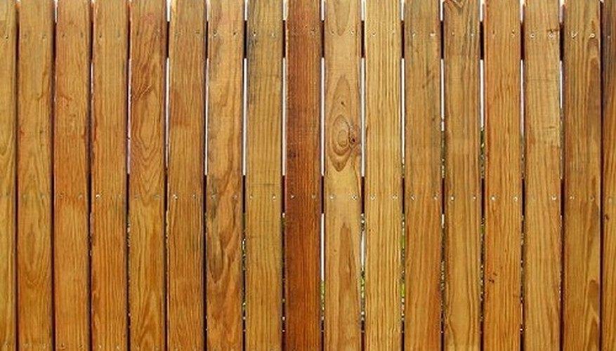 This cedar stockade style fence uses standard grade pickets.