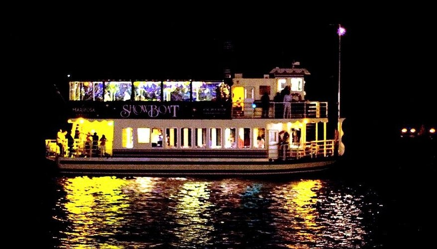 A nighttime dinner cruise.