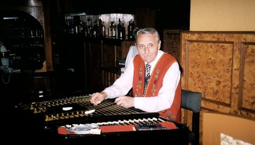 Man playing cimbalom