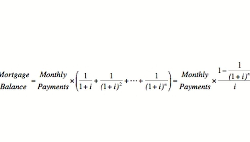 Mortgage Balance as a Polynomial of Interest