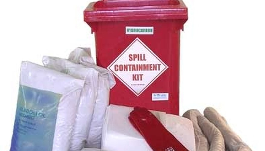 Spill kits should be large enough for the potential spill.