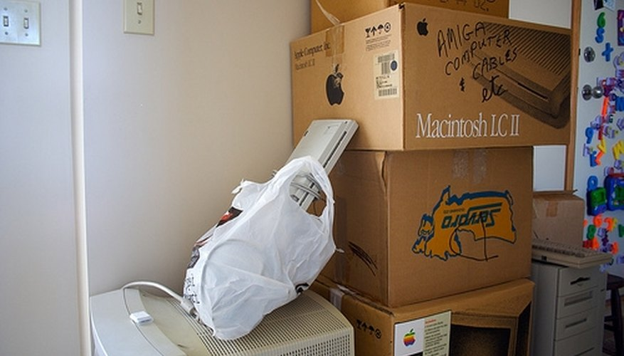 Storage units are ideal for holding items prior to a move.