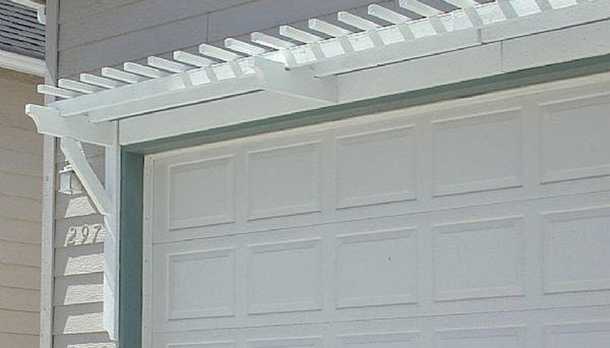 Garage Door Arbor 1 & How to Add Curb Appeal With a Garage Door Arbor (pictures) | HomeSteady