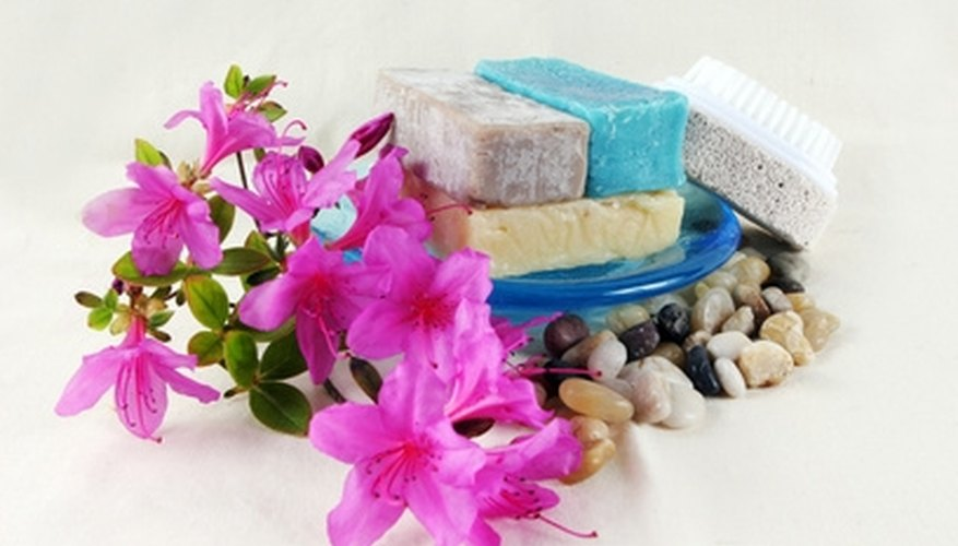 Variety of soaps.