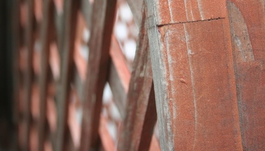 A natural finish on lattice creates an earthy feel.