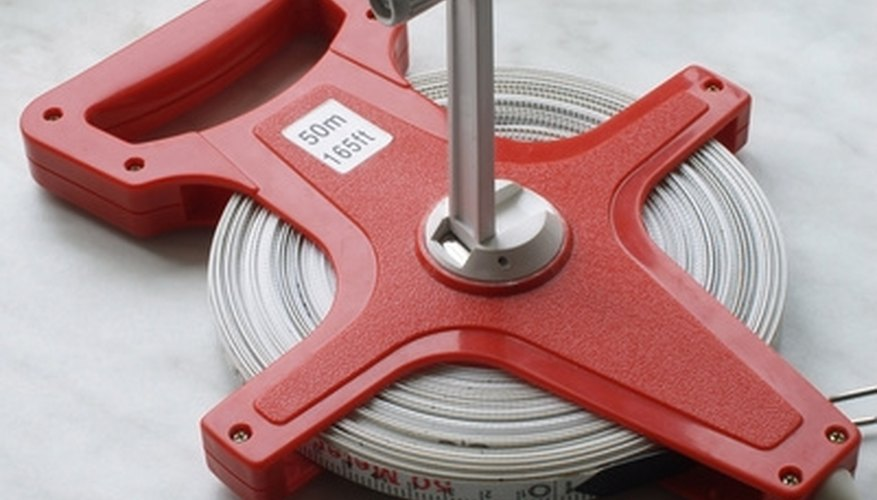 Measure using a surveyor's tape measure.