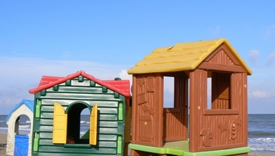Bright colors make a playhouse more child-friendly.