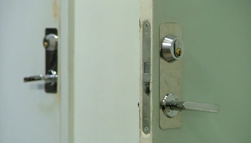Unlock a door without calling a locksmith.
