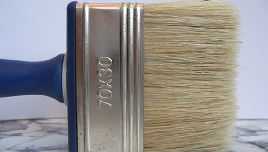A soft-bristled brush removes surface mildew.
