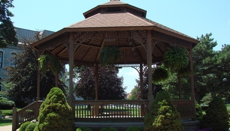This Is A Two Tier Gazebo.