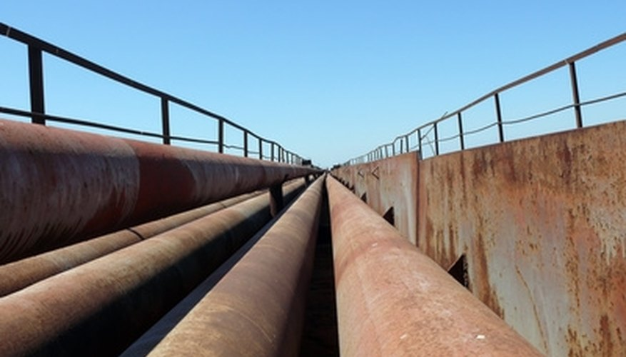 Steel pipe has published flow-pressure data available for calculations.