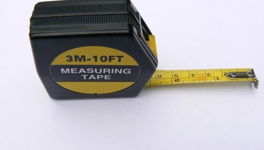 Use a tape measure to determine the width and depth of the stream.