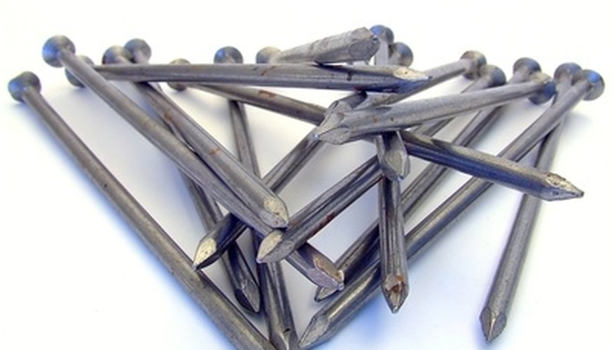 Galvanized nails resist rust and grip securely.