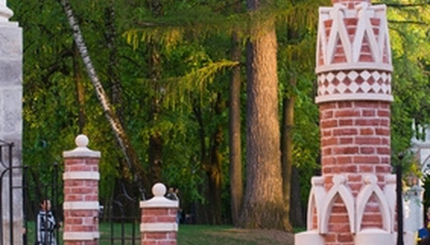 Brick support columns can add style and support to older fencing.