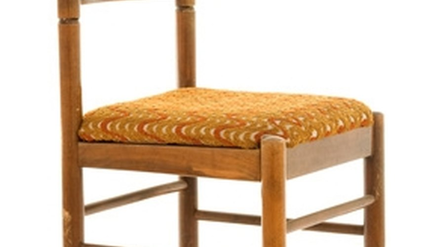 See the braces at the front and back of the chair and the slats that form the back.