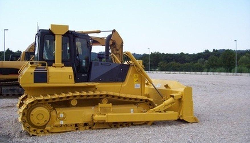 Bulldozers have tracks; wheel loaders have wheels.
