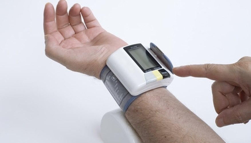 People with high blood pressure track progress with home monitors.