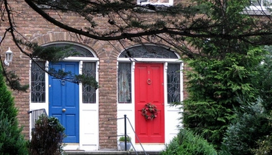 Doors come in all colors, designs and prices.