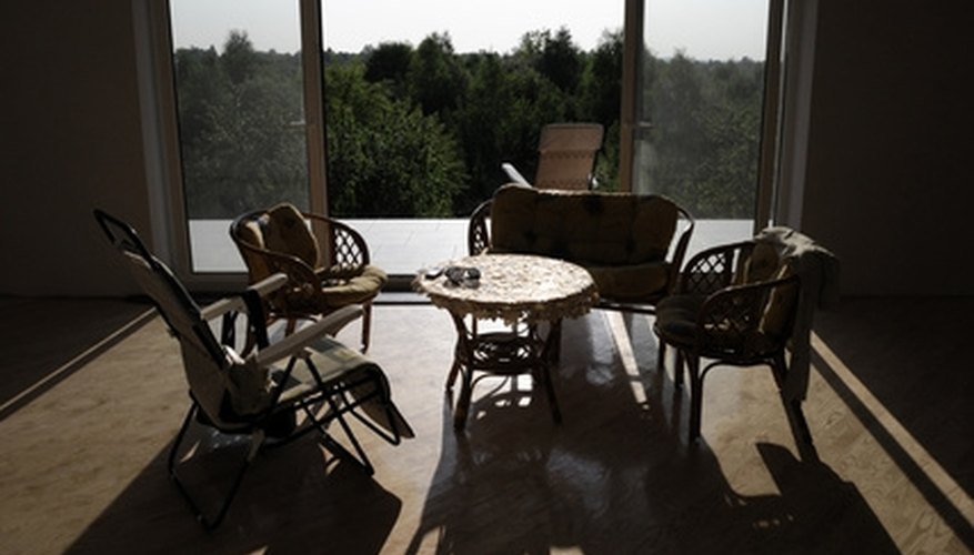Ideal sunrooms let in high quantities of natural light during the day