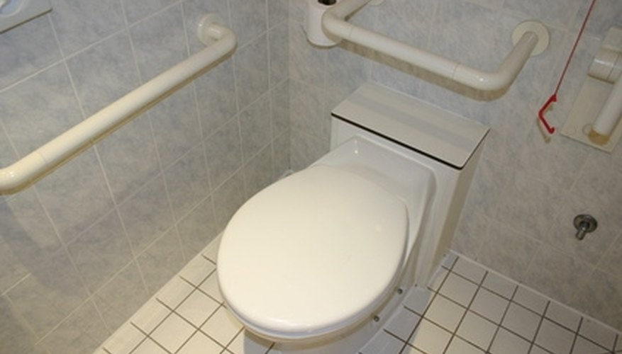 Grab bars must be secured into the wall near toilets and bath tubs.
