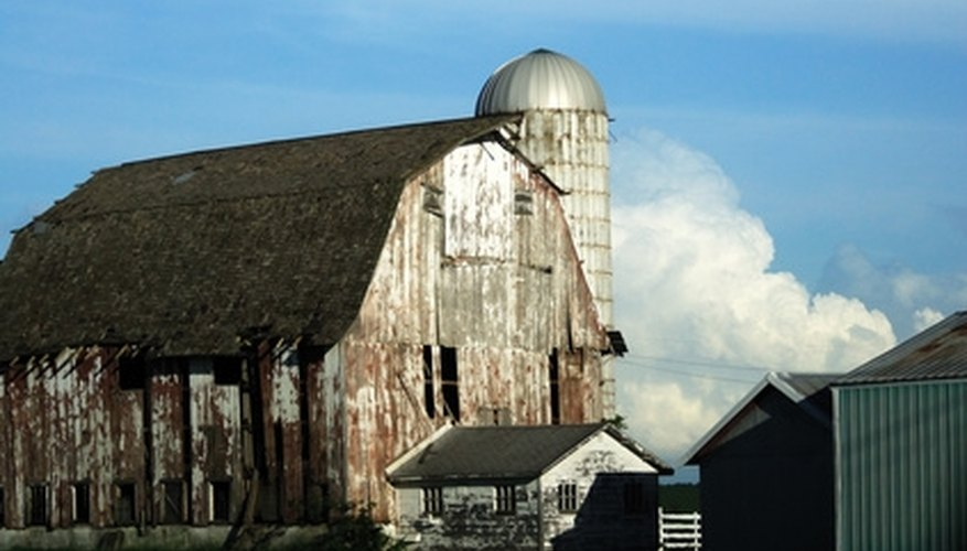 Barns often have gambrel roofs.