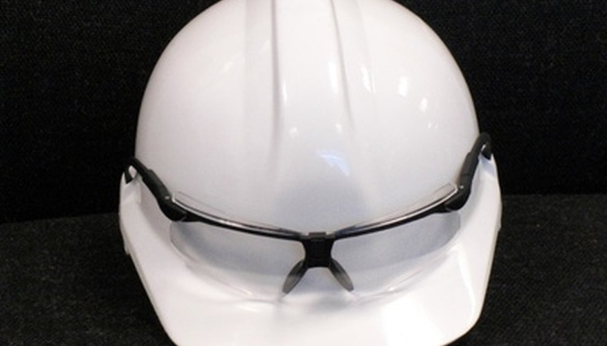 Safety glasses will help protect you from flying pieces of brick and mortar.