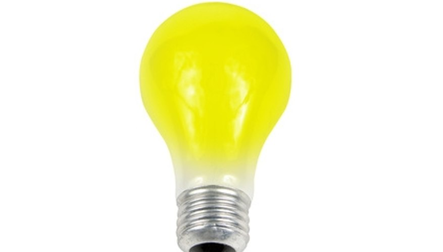Incandescent bulbs were banned in America in 2007.