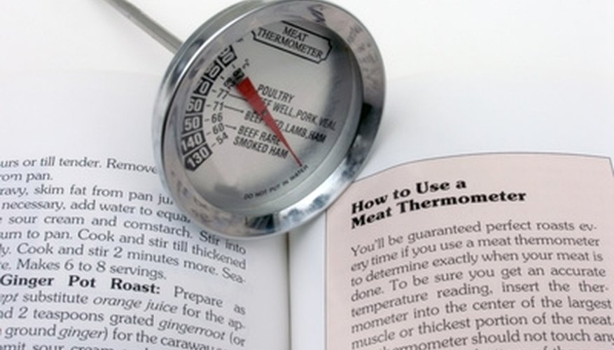 A meat thermometer is needed for each container.