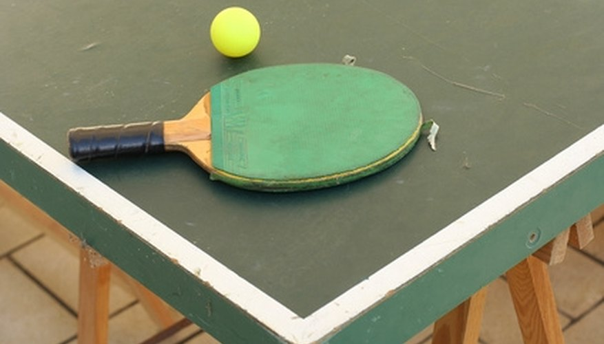 Ping-pong tables should be level and flat.