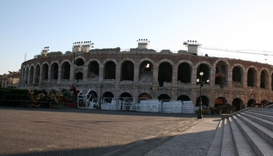 The Roman amphitheater at Verona, Italy was built in 30 CE.