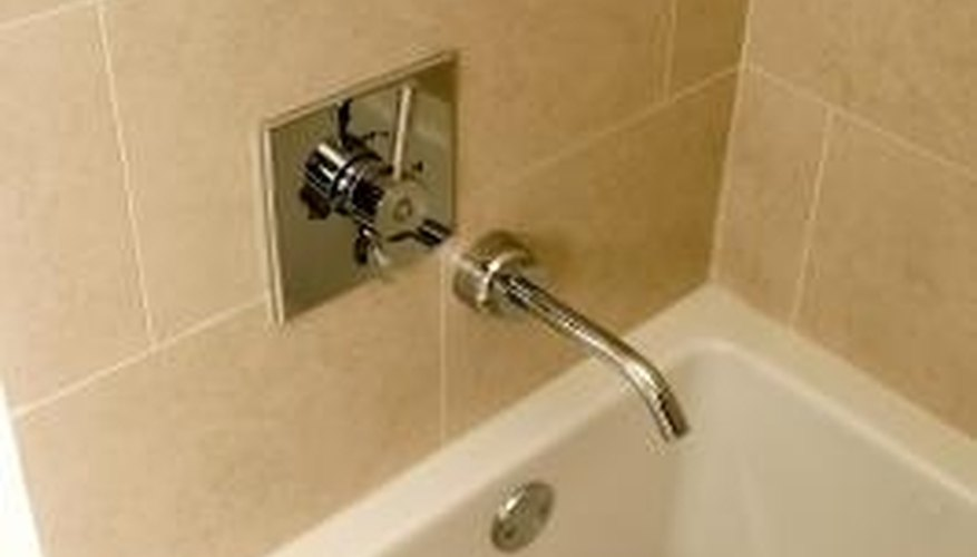 Caulking is an important part of bathroom maintenance.