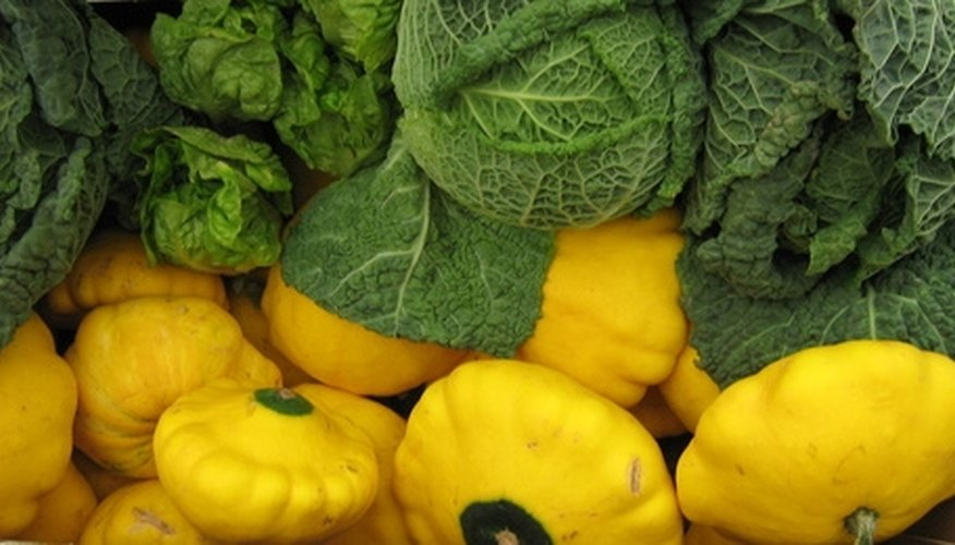 Scallop or Patty pan are round and flattened summer squash with a scalloped edge.