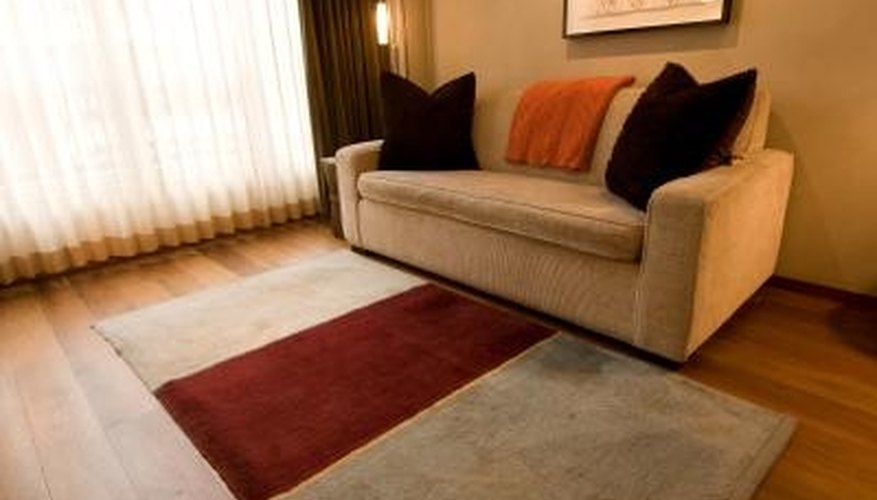 Throw rugs protect busy floor space from dirt and damage.