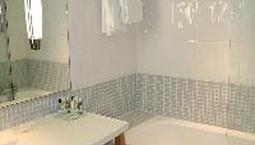 Furniture-style modern cabinet in a modern style bathroom.