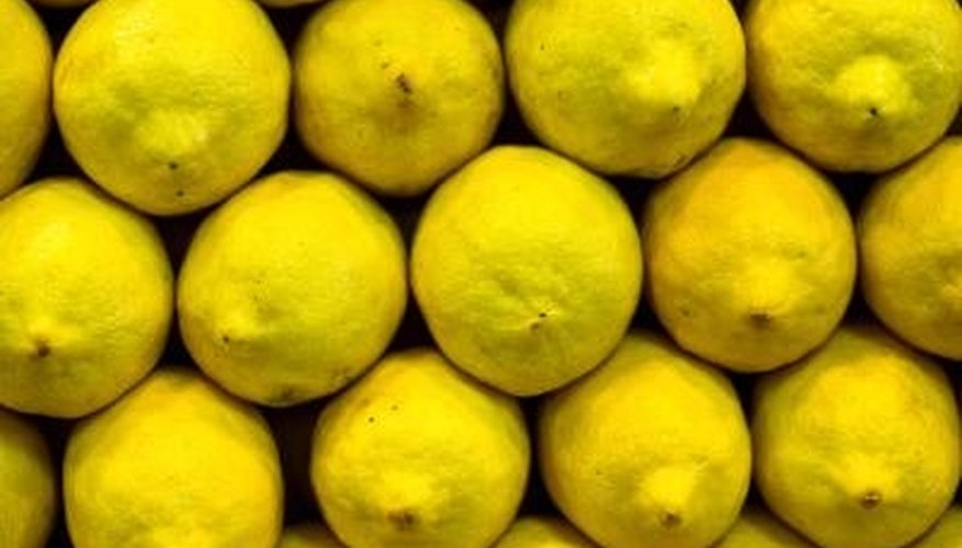 Lemons are an inexpensive way to add color to home or party decor.
